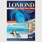 Суперглянцевая тёпло-белая фотобумага, A4, 195 гр., (20 л.) Lomond