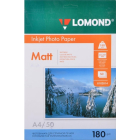 Матовая односторонняя фотобумага, A4, 180 гр., (50 л.)