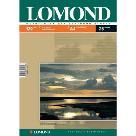 Матовая односторонняя фотобумага, A4, 120 гр., (25 л.)