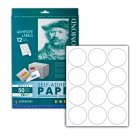 Самоклеящаяся бумага для этикеток, A4, 12 шт., D 60 мм, 70 гр., (50 л.)