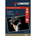 Суперглянцевая ярко-белая фотобумага, A4, 160 гр., (20 л.) Lomond