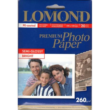 Полуглянцевая ярко-белая фотобумага, A6, 260 гр., (20 л.)