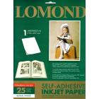 Глянцевая самоклеящаяся фотобумага, A4, 1 шт., 85 гр., (25 л.), Lomond