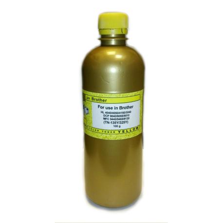 Тонер для Brother TN-135, TN-325 жёлтый, Gold Atm, 100 гр.
