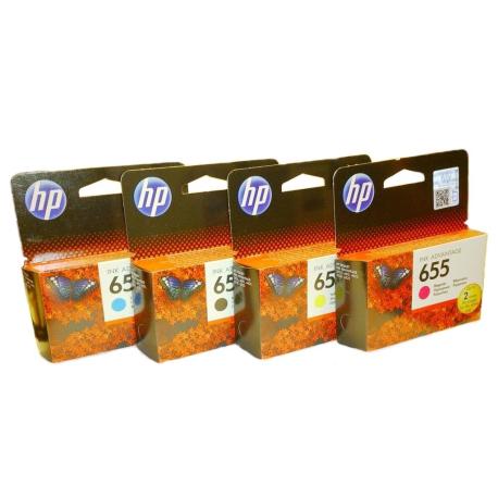 Комплект картриджей HP (№655) , 4 шт.