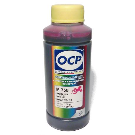 Чернила OCР для HP (M 758) 100 мл
