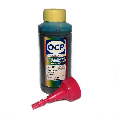 Чернила OCP для HP (CL 81) cyan light, 100 гр.